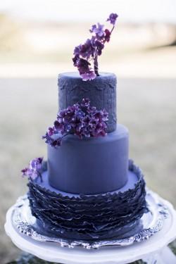 Deep Purple Wedding Cake