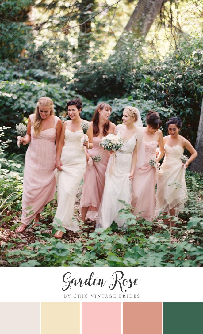 Garden Rose - Romantic Summer Garden Wedding Inspiration in Pink & Green
