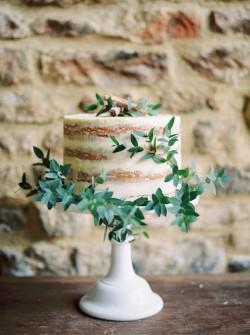 Naked Single Layer Wedding Cake