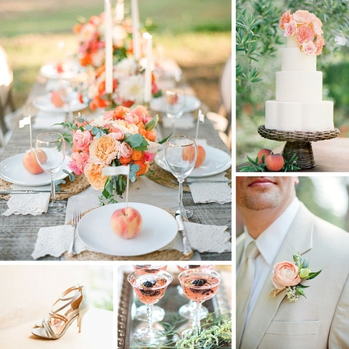 Peach archives chic vintage brides chic vintage brides peach bliss summer wedding inspiration in a romantic palette of soft peach junglespirit Gallery