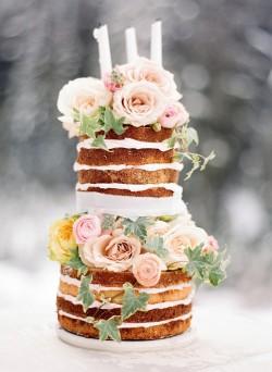 Naked Tall Wedding Cake