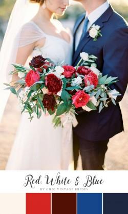 Red White & Blue Wedding Colour Palette