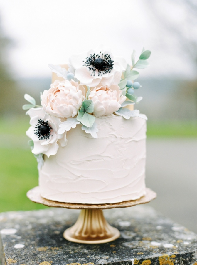 single layer wedding cakes