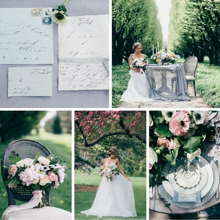 """""""Spring Awakening"""" A Romantic Spring Bridal Shoot"""