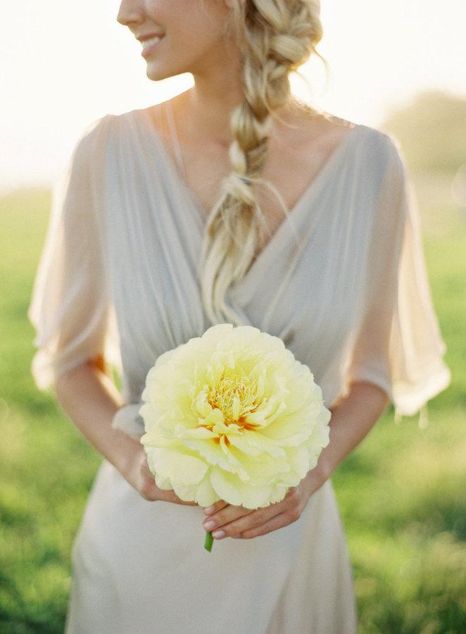 Yellow Single Stem Rose Bouquet