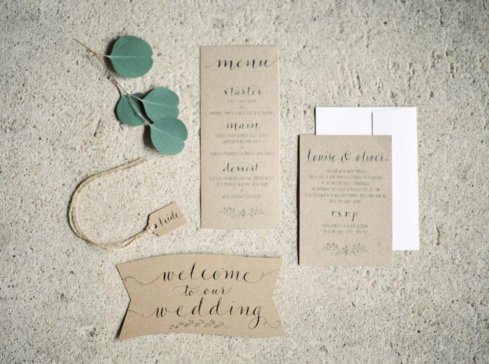 Elegant Rustic Wedding Stationery