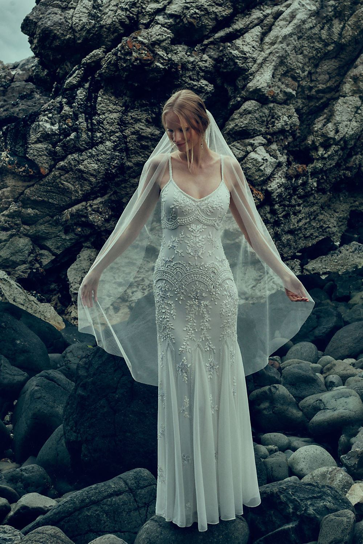 'Naomi' Beautifully Beaded Wedding Dress