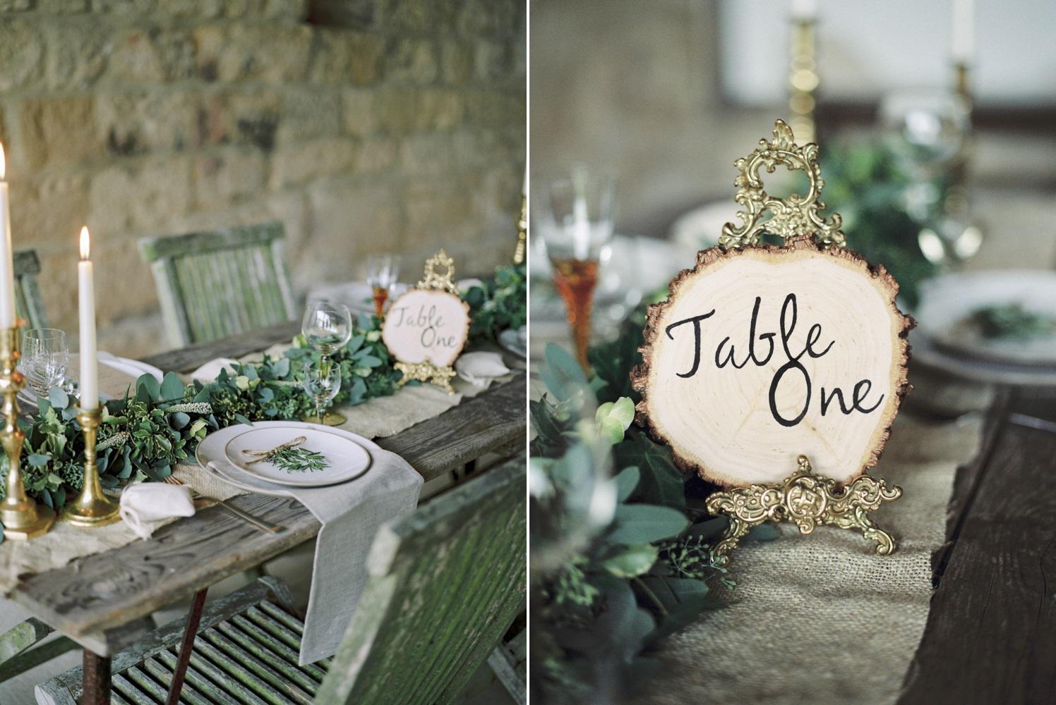 Elegant Rustic Wedding Tablescape // Photography ~ Theresa Furey