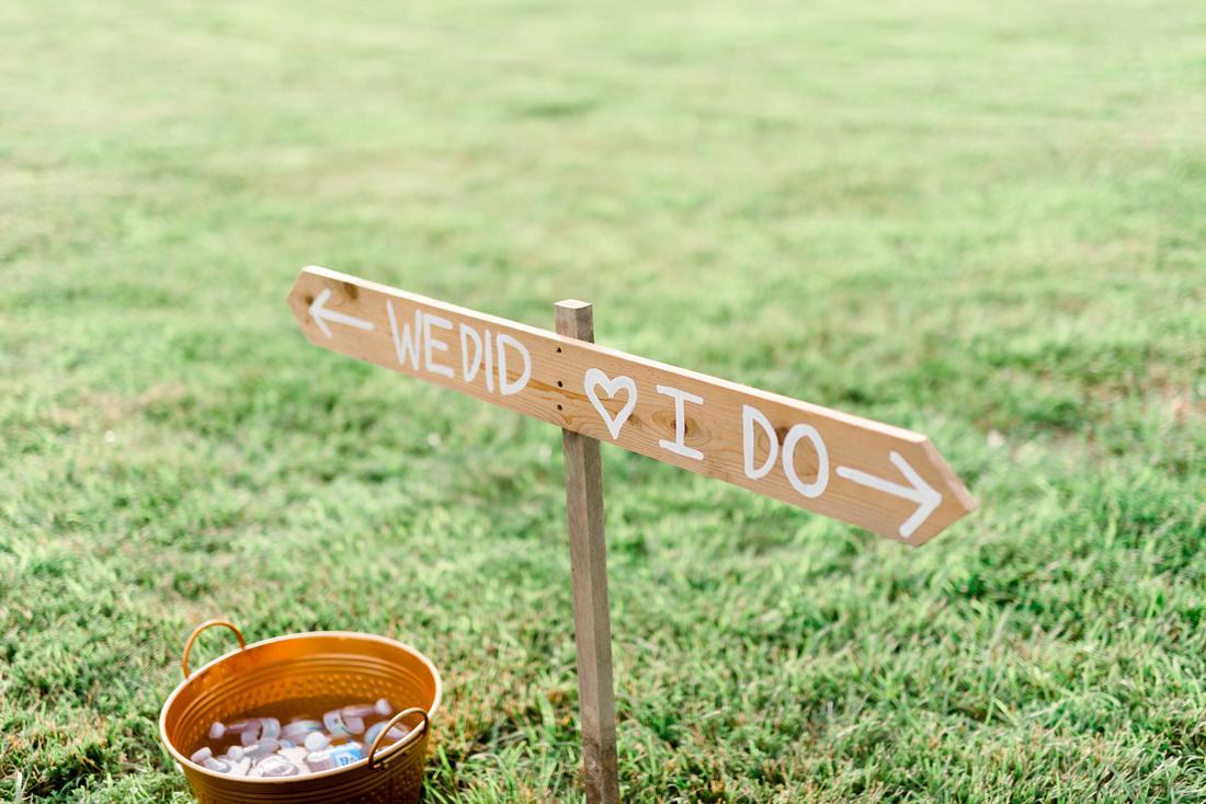 DIY Wedding Ceremony Sign // Photography ~ Anna Kardos