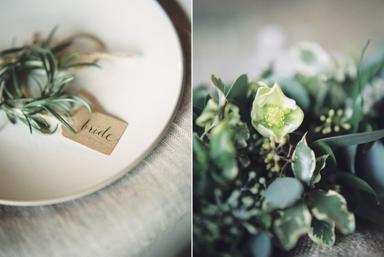 Elegant Rustic Wedding Place Card // Photography ~ Theresa Furey