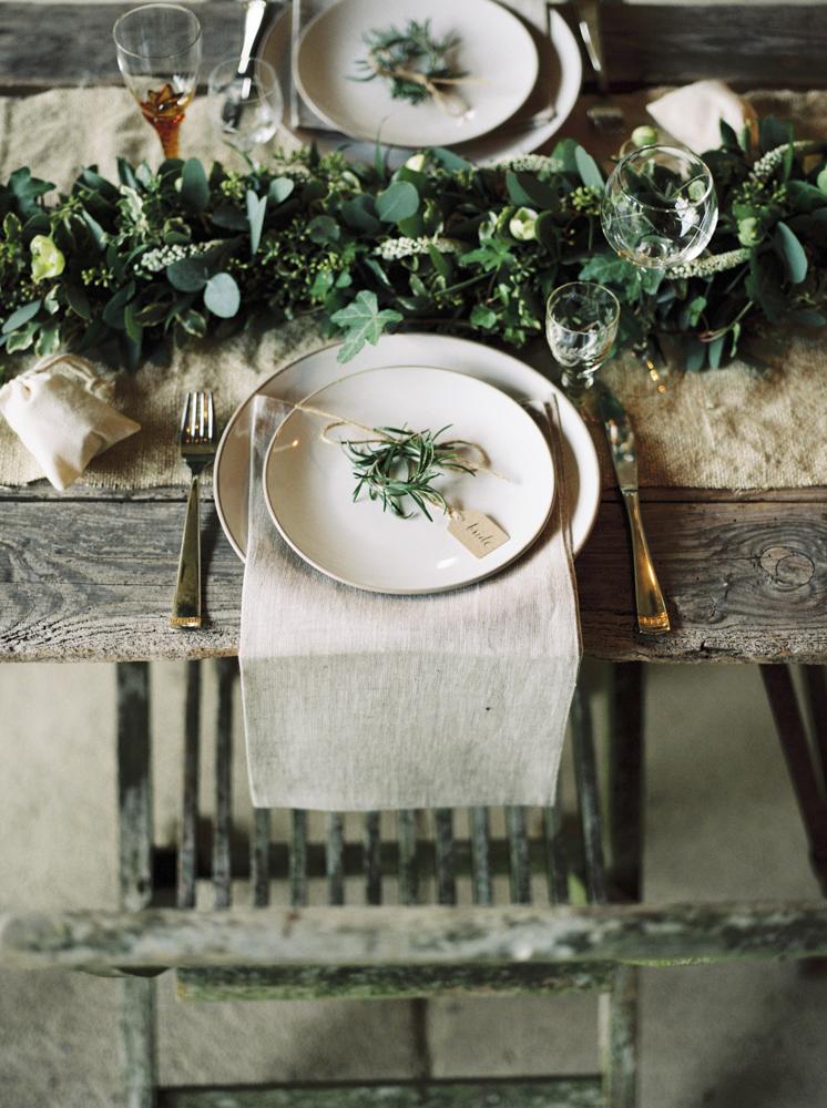Elegant Rustic Wedding Place Setting // Photography ~ Theresa Furey
