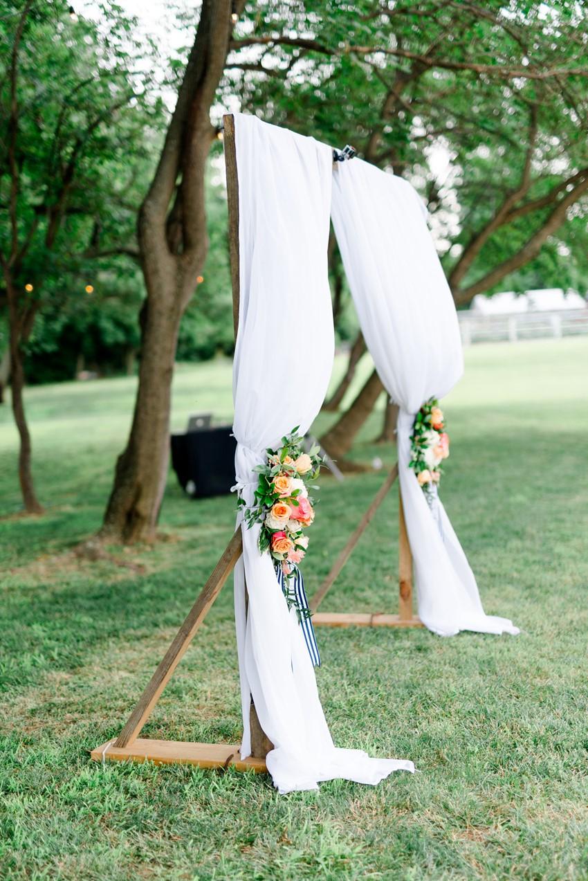 Drapes Wedding Ceremony Backdrop // Photography ~ Anna Kardos
