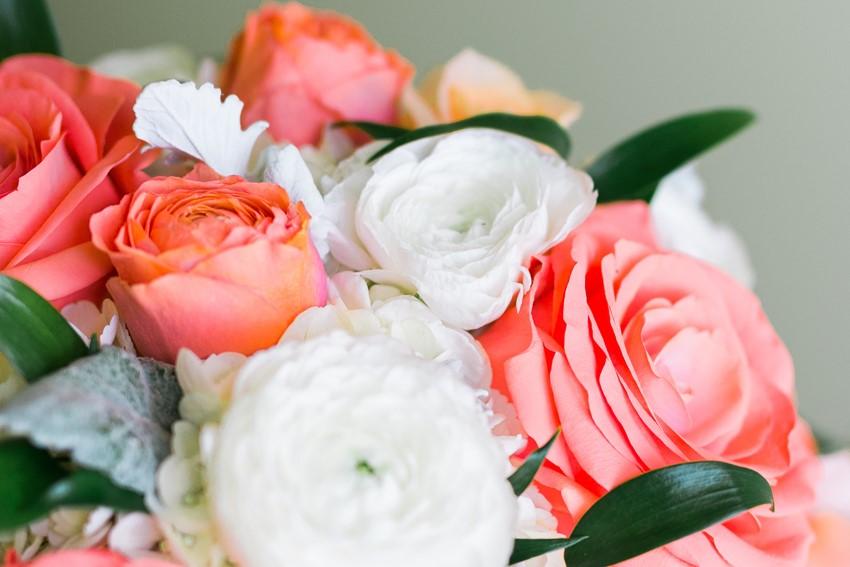 Coral Bridal Bouquet // Photography ~ Anna Kardos