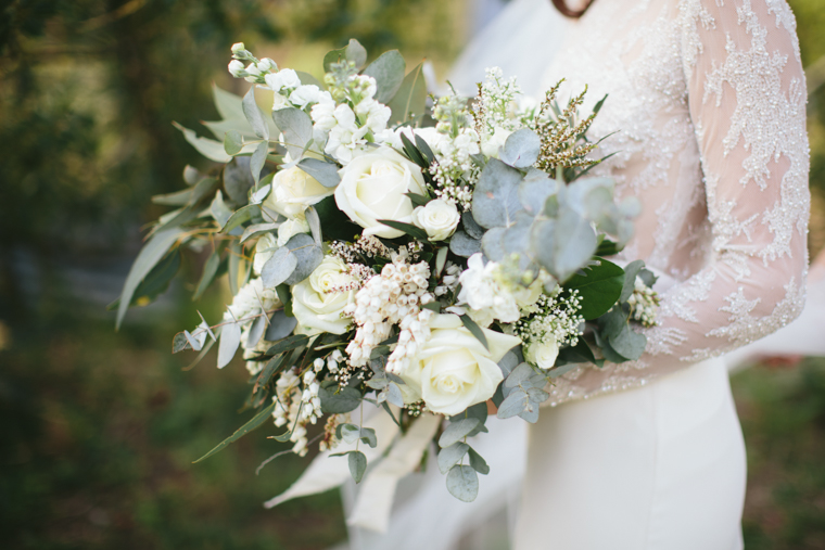White Bridal Bouquet // Photography - White Images
