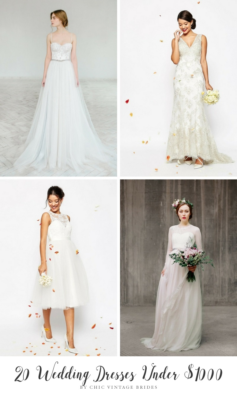 20 Beautiful Wedding Dresses Under 1000 That Look Anything But Budget Chic Vintage Brides Chic Vintage Brides