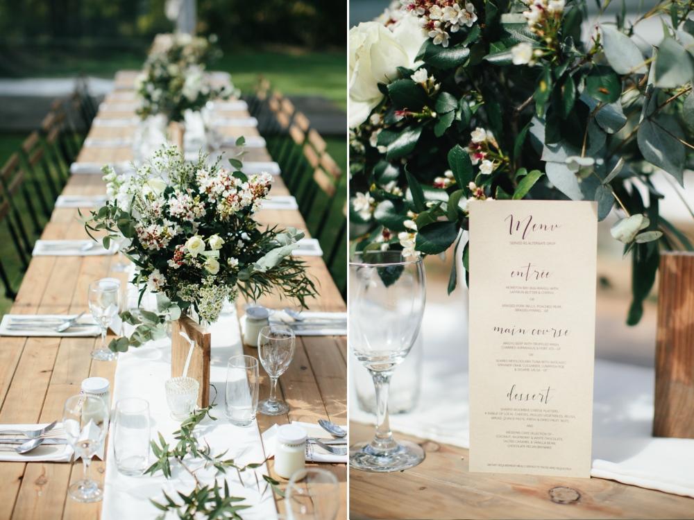 Wedding Menu Card // Photography - White Images