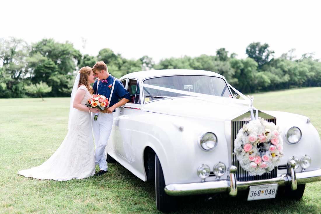 Vintage Wedding Limousine // Photography ~ Anna Kardos