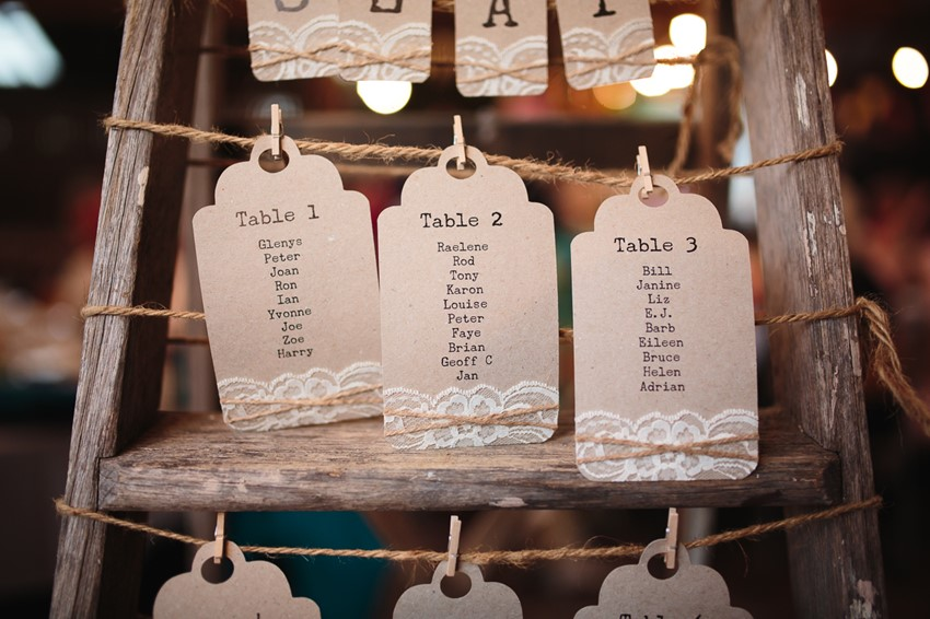Rustic Wedding Seating Chart // Photography ~ Pierre Curry