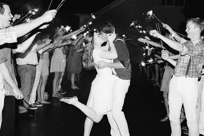 Sparkler Wedding Exit // Photography ~ Anna Kardos