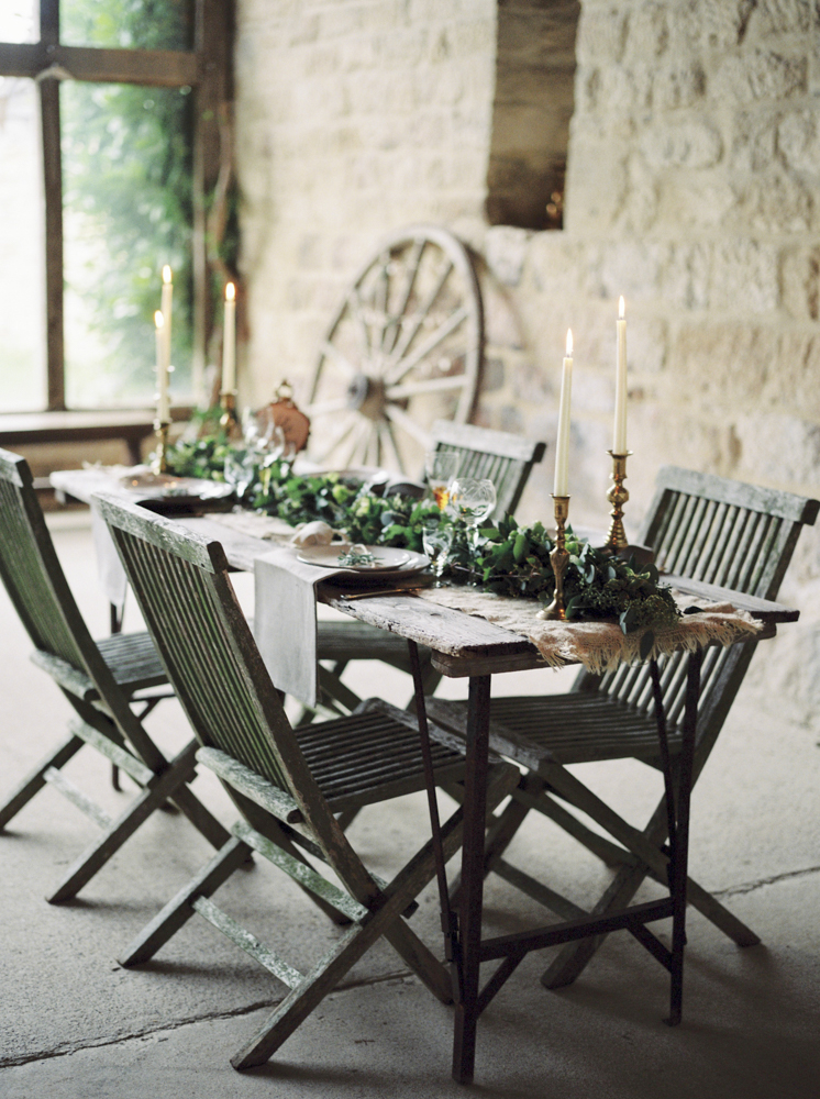 Elegant Rustic Barn Wedding Tablescape // Photography ~ Theresa Furey