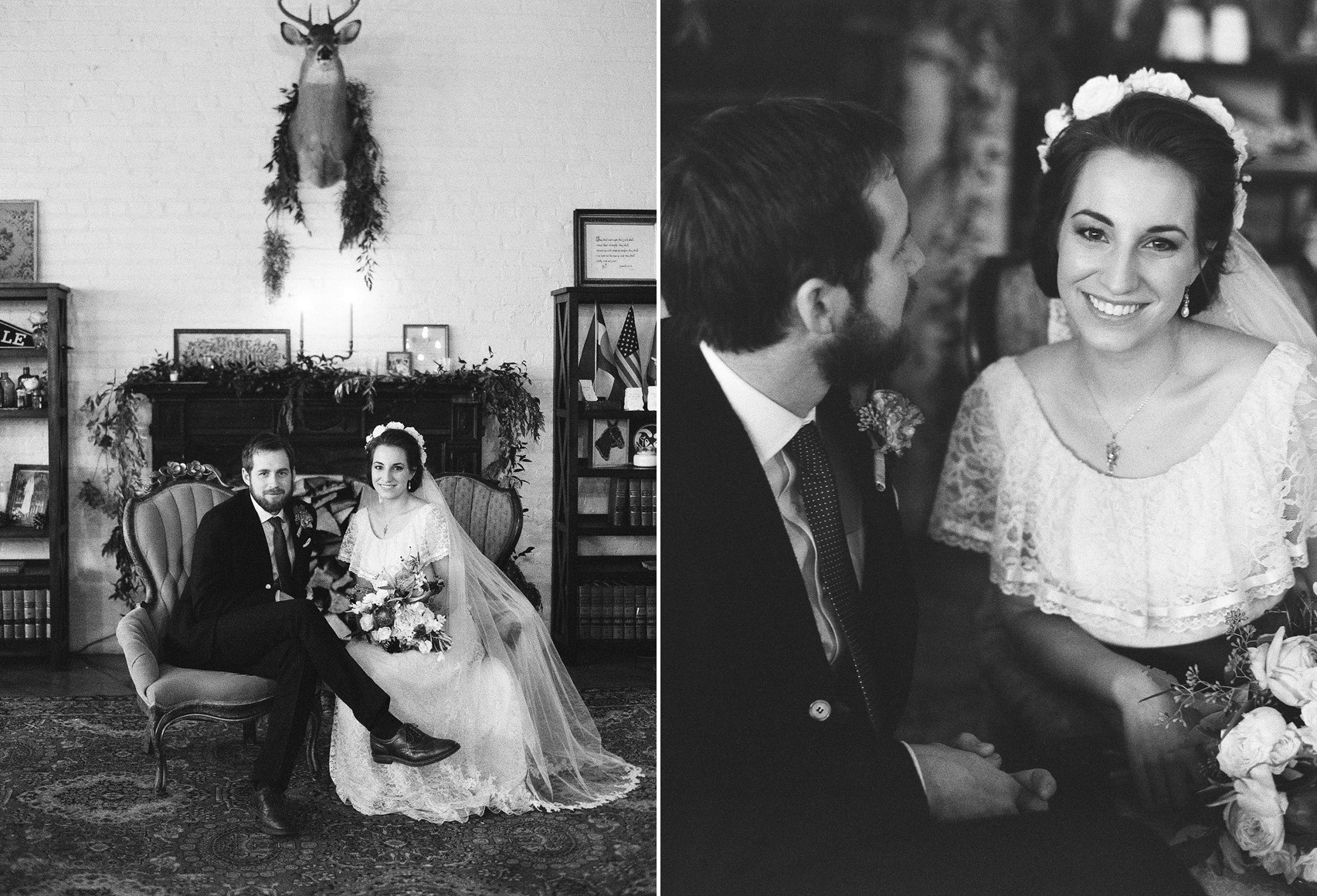 Vintage Bride & Groom Portraits // Photography ~ Whitney Neal