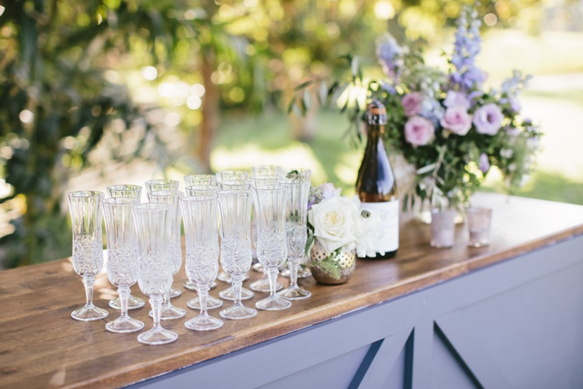 Lavender Wedding Bar // Photography ~ White Images
