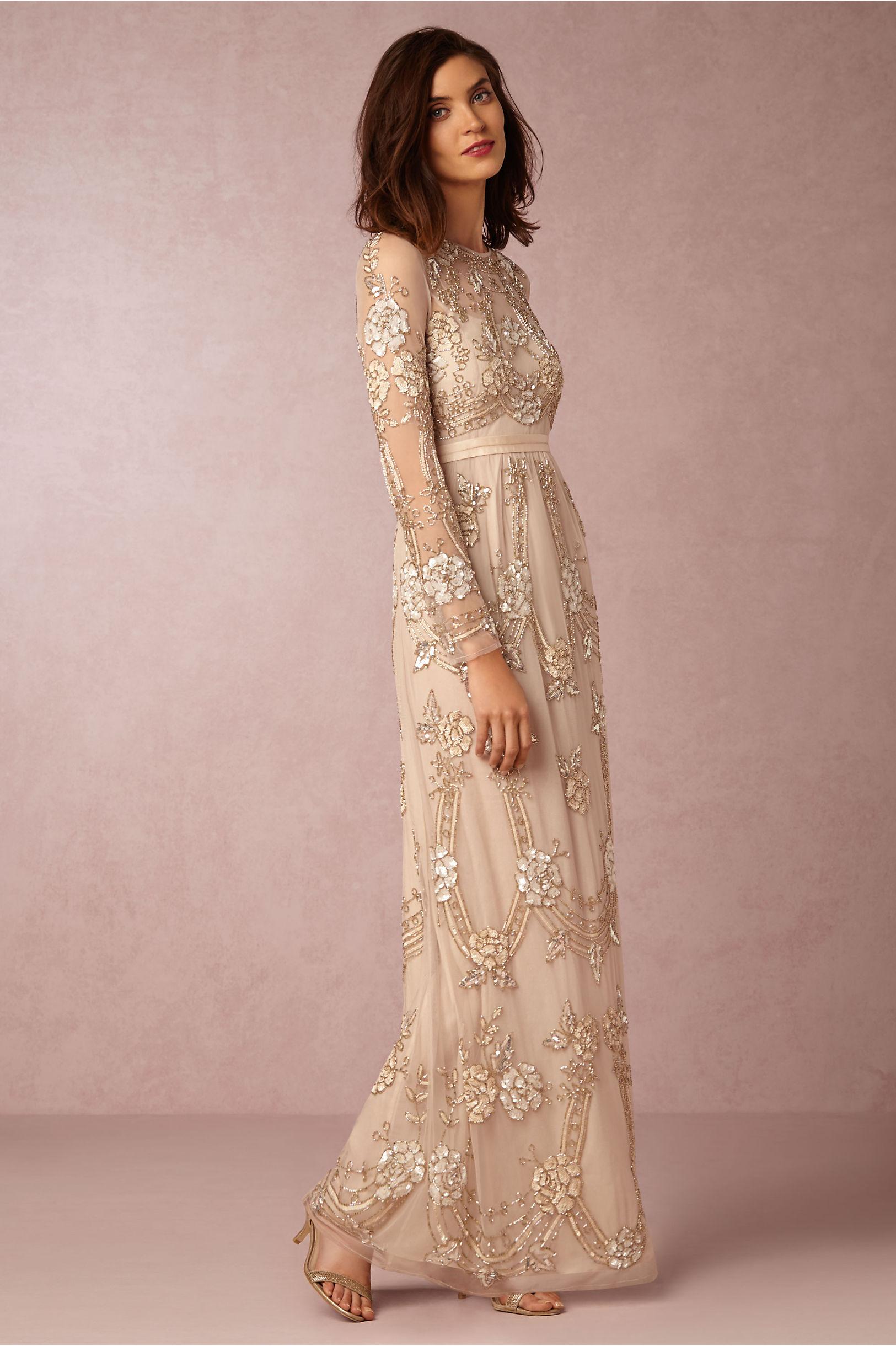 Long Sleeve Embellished Wedding Dress