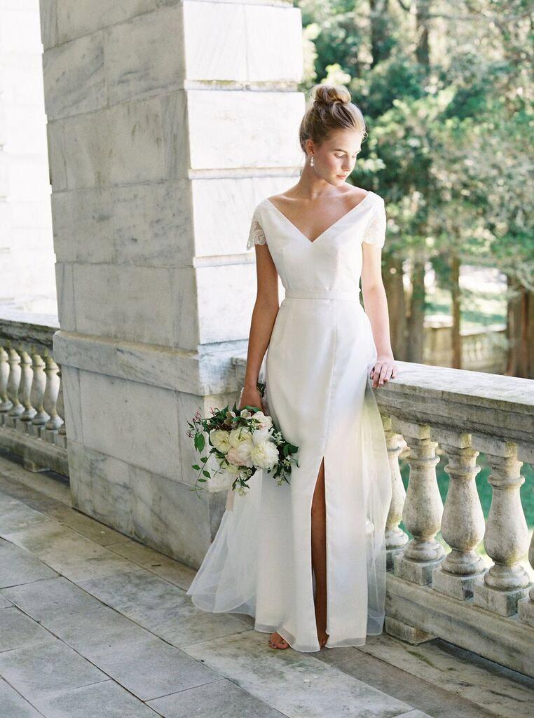 'Athena' Elegant Wedding Dress under $1000