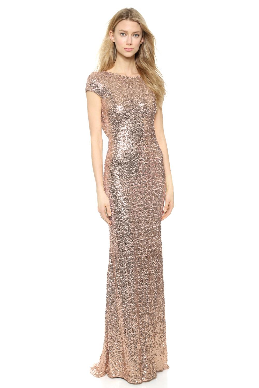 Blush Sequin Wedding Dress for Under $1000