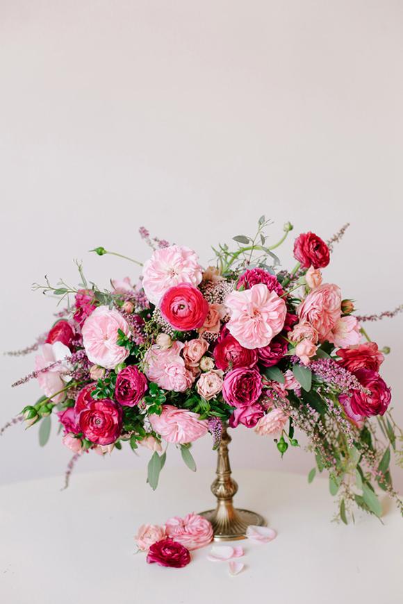 Fuchsia Floral Wedding Centrepiece