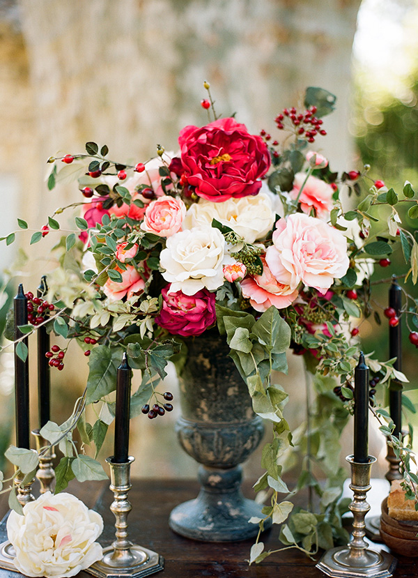 Organic Floral Wedding Centrepiece