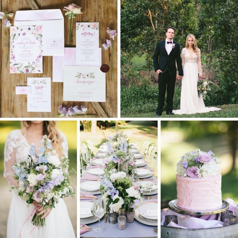 Romantic Lavender & Lilac Wedding Inspiration