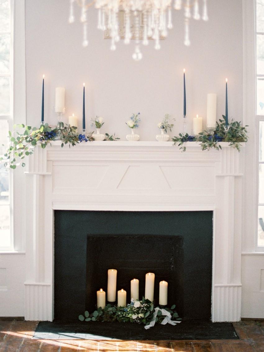 Romantic Fireplace Wedding Ceremony Backdrop // Photography ~ Live View Studios
