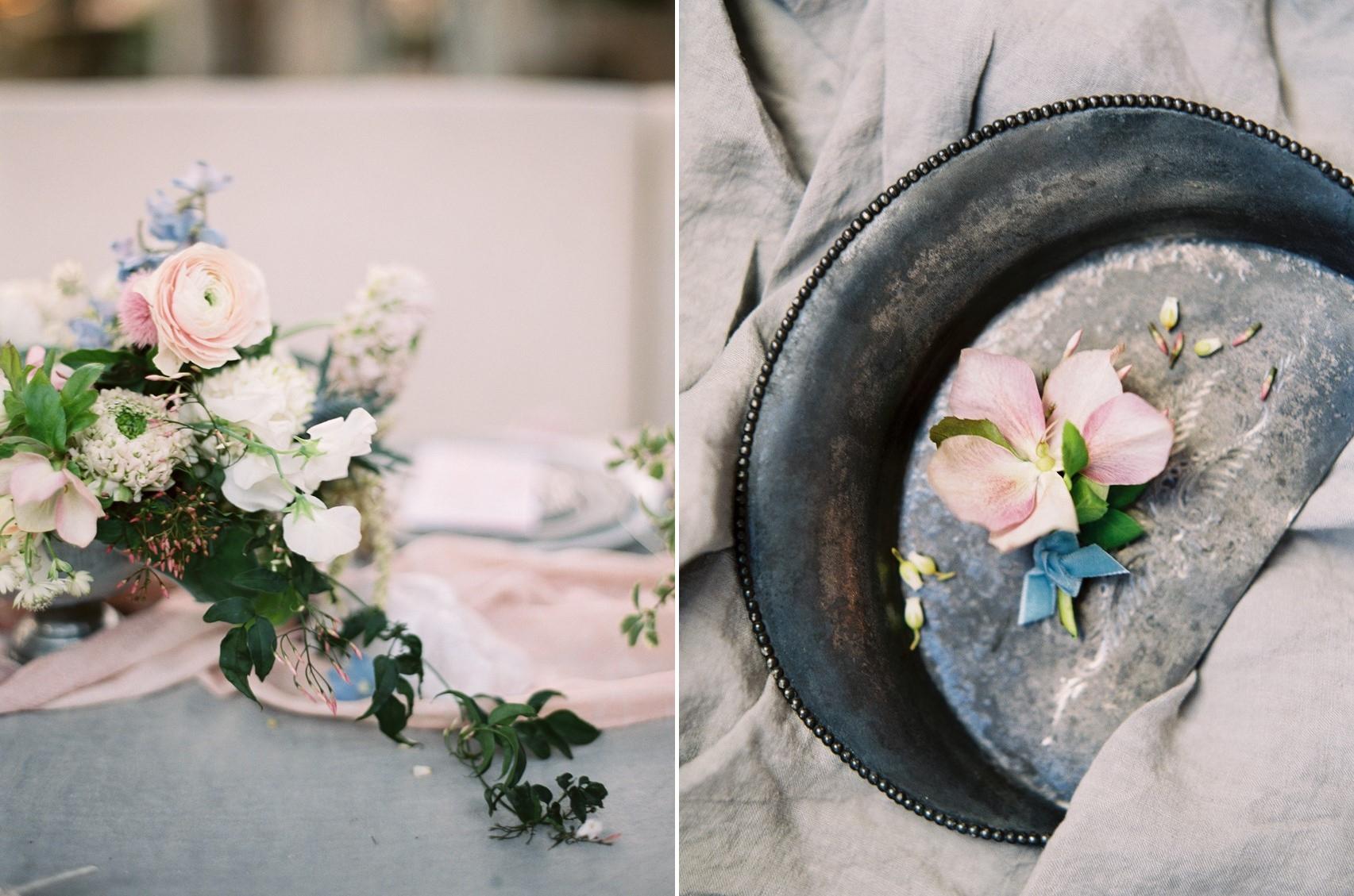 Serenity Blue & Rose Quartz Wedding Decor \\ Photography - Charla Storey
