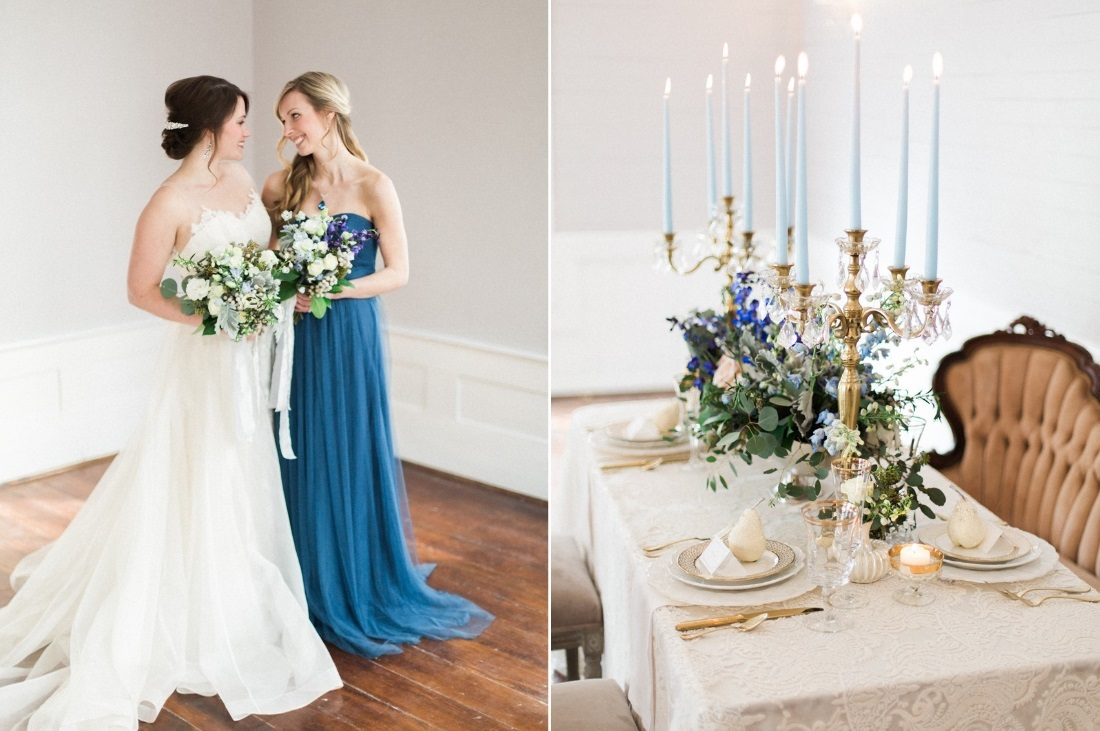 Romantic Blue & Blush Wedding Inspiration