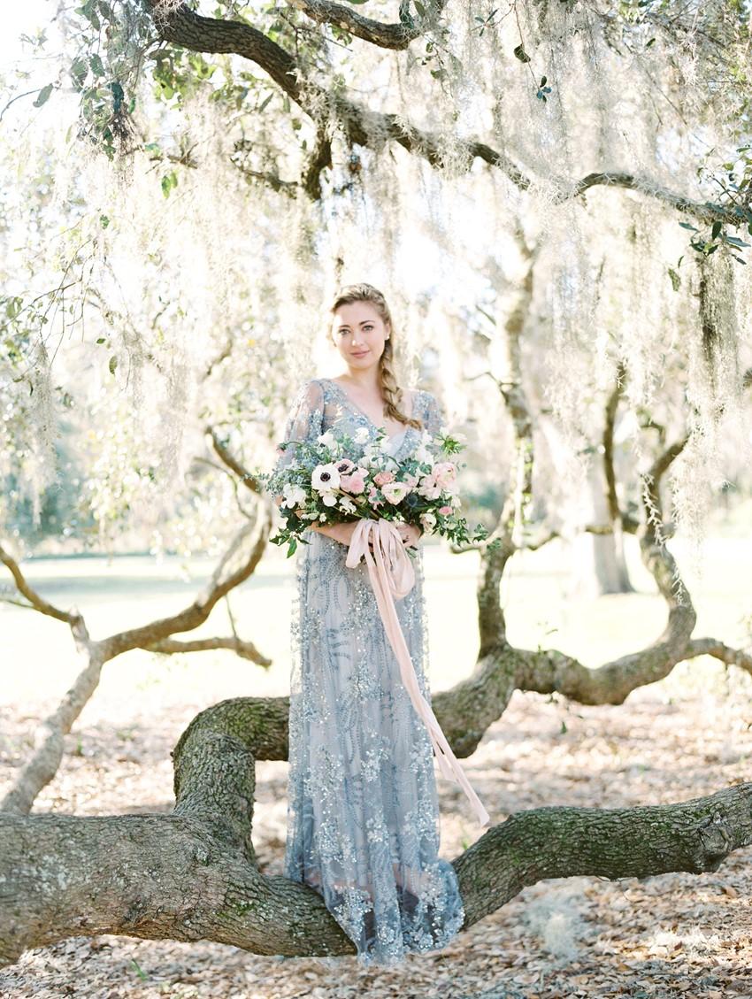 Serenity Blue & Rose Quartz Wedding Ideas \\ Photography - Charla Storey