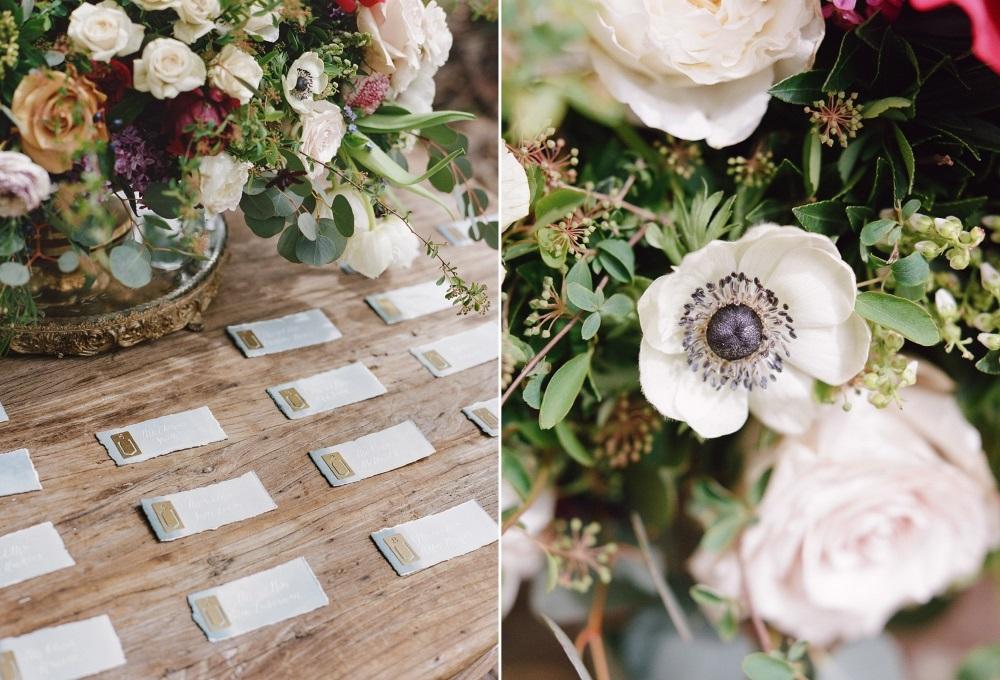 Elegant Calligraphy Escort Cards // Photography ~ Rebecca Yale Photography