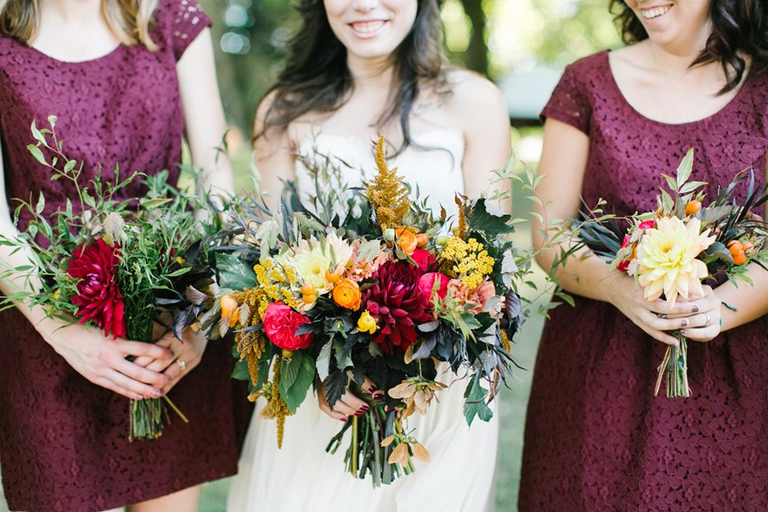 Bride's & Bridesmaids Bouquet // Photography ~ Maria Lamb