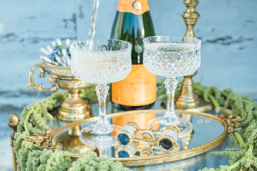 Crystal Vintage Champagne Glasses // Photography ~ Injoy Imagery
