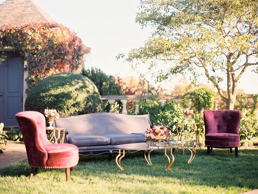 Fall Wedding Lounge // Photography ~ Kristin La Voie Photography