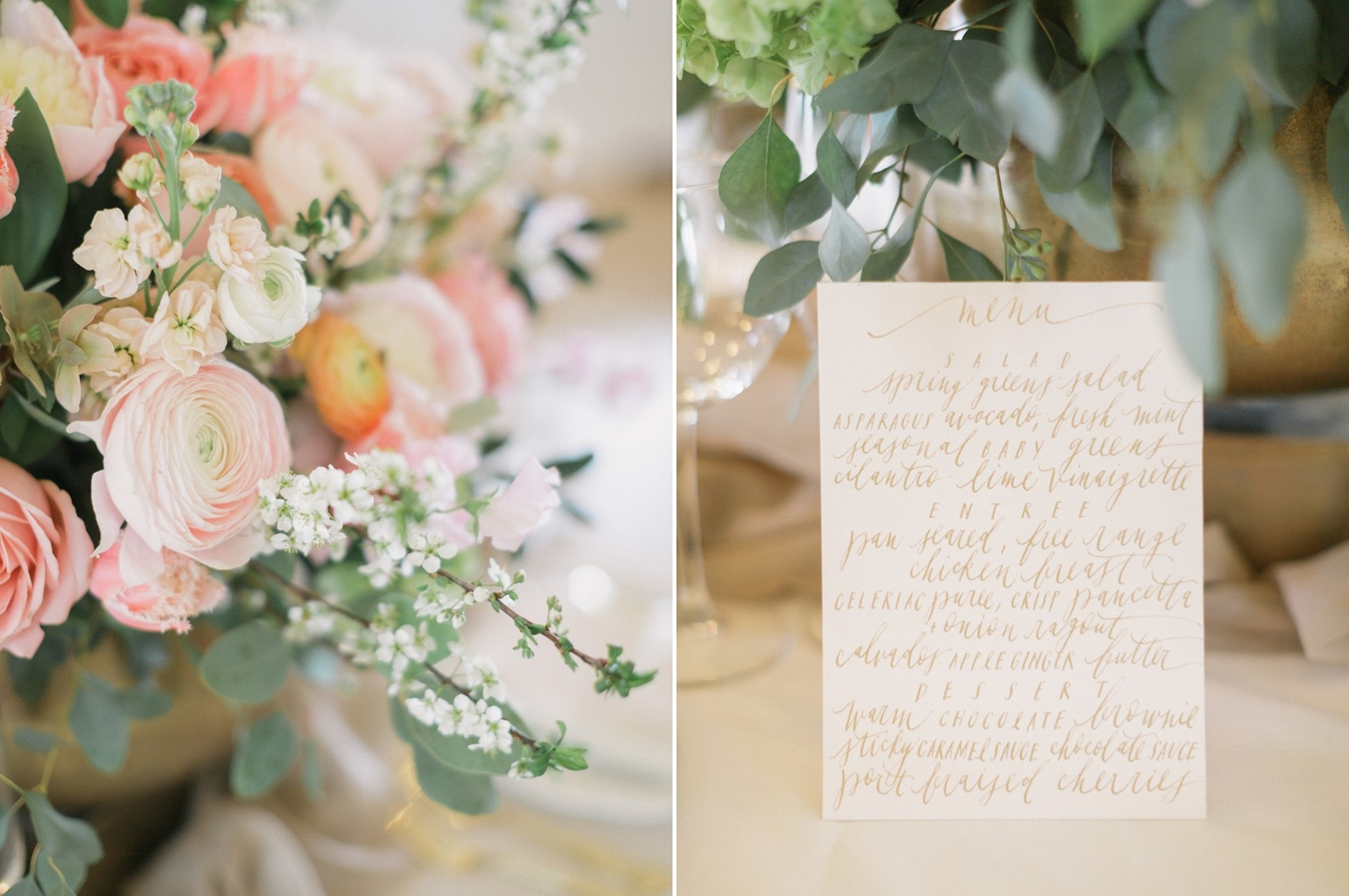 Modern Vintage Calligraphy Wedding Stationery Suite // Photography ~ Artiese Studios || Blush Weddings || Gold Weddings