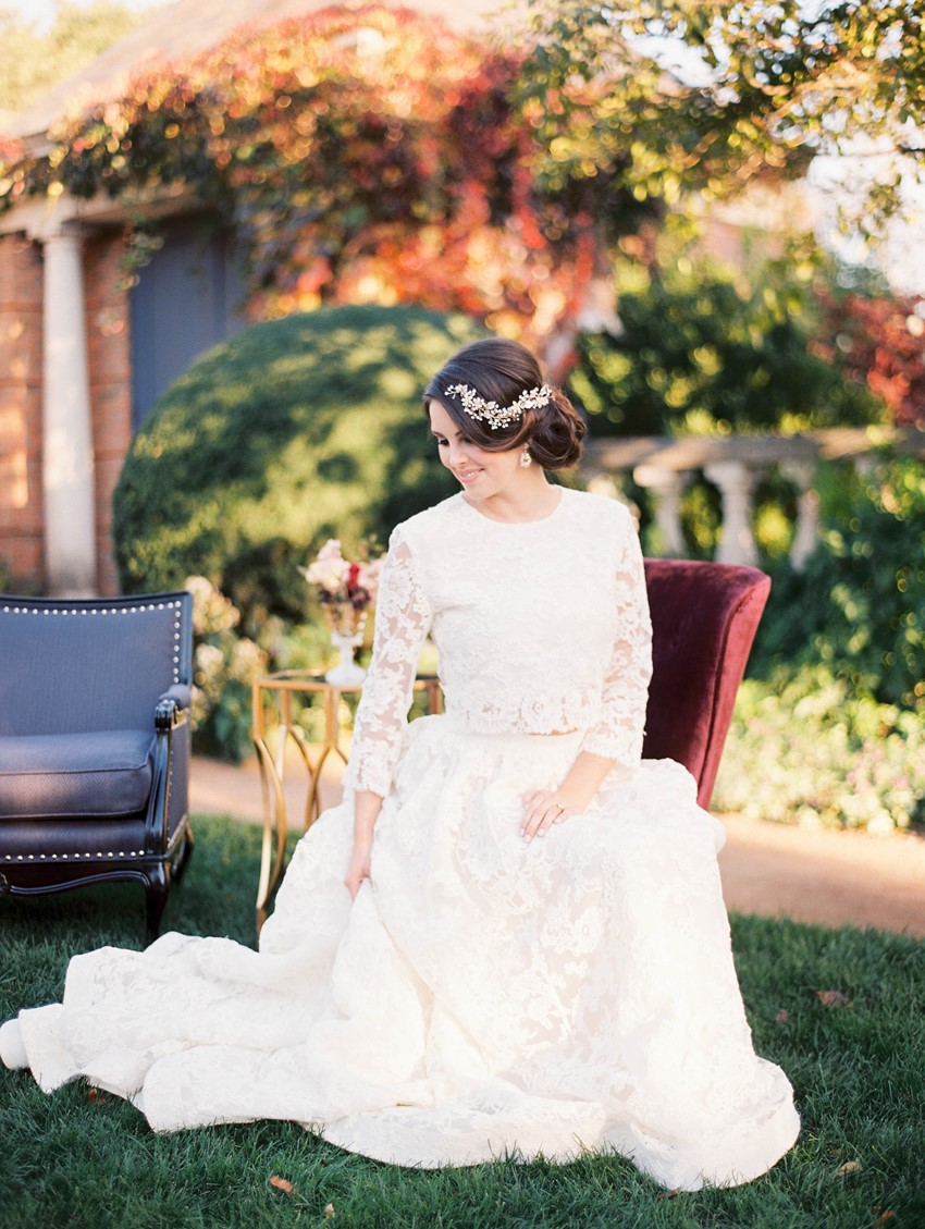 Fall Modern Vintage Bride // Photography ~ Kristin La Voie Photography