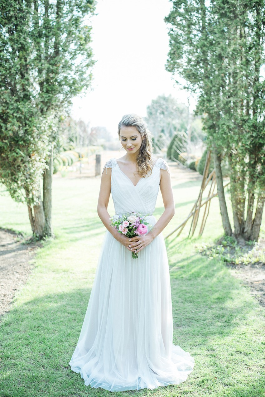 Summer Bridesmaid Wearing White // Photography ~ Injoy Imagery