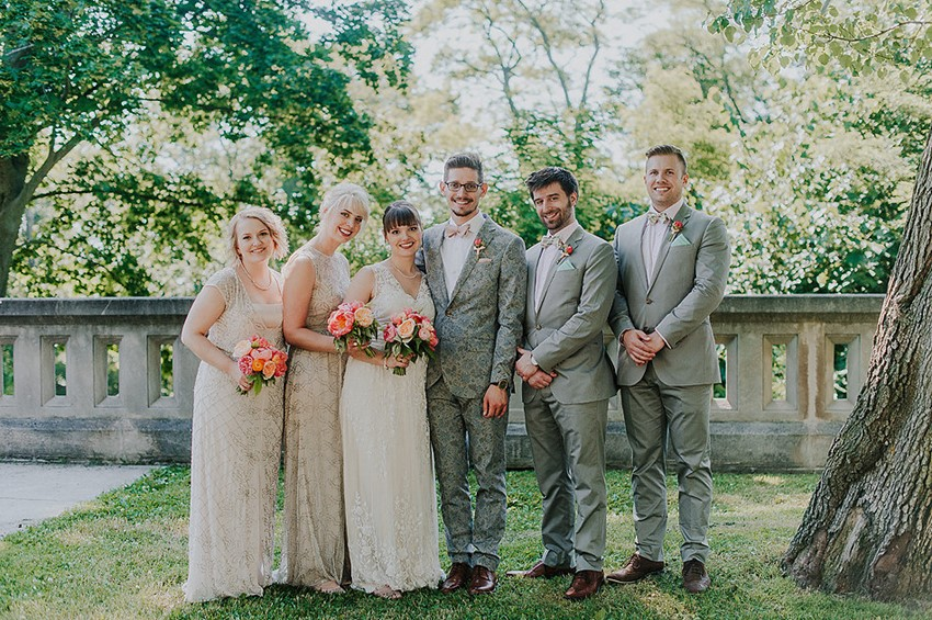 Vintage Inspired Bridal Party // Photography ~ Anna Page Photography