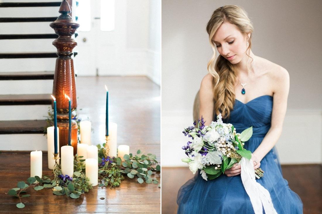 Blue Bridesmaid Dress // Photography ~ Live View Studios