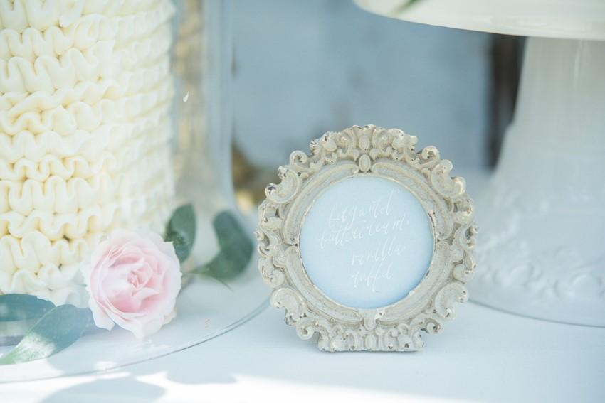 Vintage Serenity & Rose Quartz Wedding Decor // Photography ~ Injoy Imagery