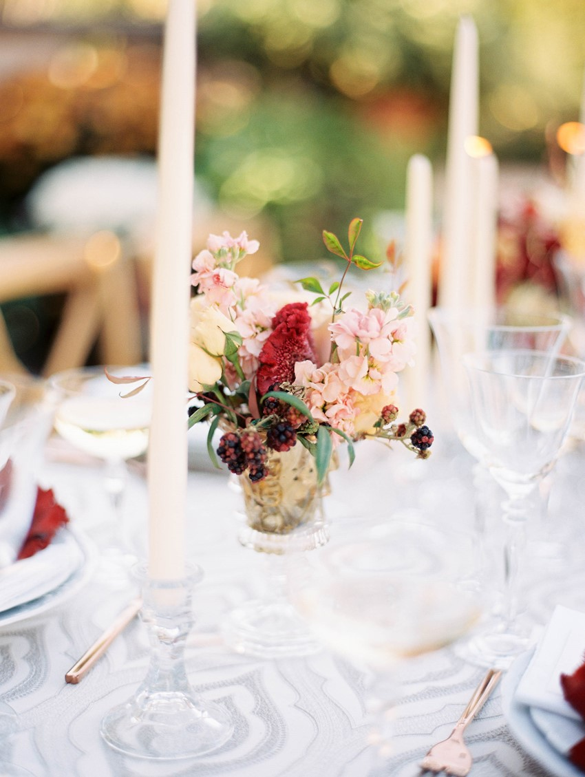 Fall Garden Wedding Floral Centrepiece // Photography ~ Kristin La Voie Photography