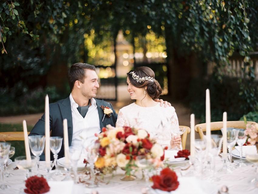 Fall Garden Wedding Bride & Groom // Photography ~ Kristin La Voie Photography