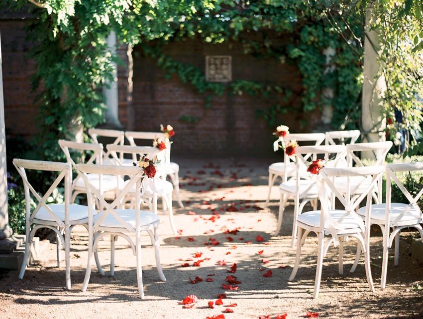 Outdoor Autumn Wedding Ceremony // Photography ~ Kristin La Voie Photography