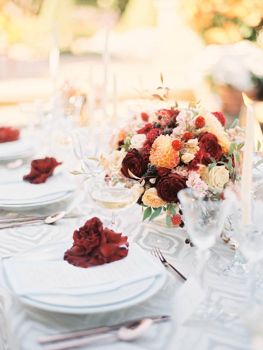 Fall Garden Wedding Tablescape // Photography ~ Kristin La Voie Photography